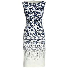 Canvas by Lands' End Women's Sleeveless Sheath Dress ($155) ❤ liked on Polyvore featuring dresses, mixed print dress, sleeveless dress, princess seam dress, white sleeveless dress and white sheath dress