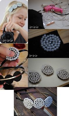 17 Cool & Easy DIY Headband Tutorials for Modern Girls - Style Motivation Headbands are one of the most practical hair accessories. All you need to do now is to view our tutorials and spoil the best headband for you. Do It Yourself Schmuck, Headband Tutorial, Flower Tutorial, Bow Tutorial, Diy Accessoires, Diy Hair Bows, Ribbon Hair, Pretty Designs, Diy Hair Accessories