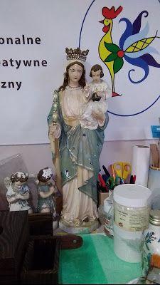 N I E S P O D Z I A N K I: Renowacja figury Maryjka z dzieciątkiem