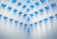 Galeria Kaufhof by Christian Morris, via Amazing Architecture, Art And Architecture, Installation Architecture, Blue And White, Contemporary, Abstract, Building Art, Inspirational Photos, Architectural Photography