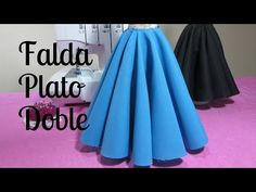 Falda doble circular larga - YouTube