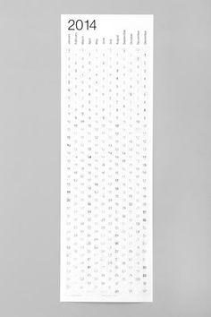 2014 Kalender mit Luftpolstern bei Urban Outfitters