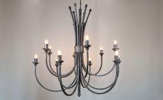 Willson 12 Light Wrought Iron Chandelier | ada Wrought Iron Chandeliers, Wood Chandelier, Ceiling Lights, Lighting, Home Decor, Wooden Chandelier, Decoration Home, Room Decor, Lights