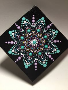 Hand Painted Mandala on Canvas Meditation Mandala Dot Art