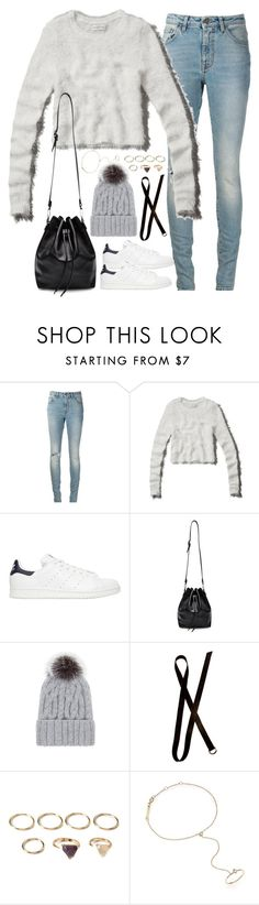 """""""Untitled#4244"""" by fashionnfacts ❤ liked on Polyvore featuring Yves Saint Laurent, Abercrombie & Fitch, adidas Originals, Proenza Schouler, Eugenia Kim, Dries Van Noten, Forever 21 and ZoÃ« Chicco"""