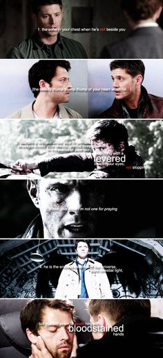 Dean + Castiel: need /nēd/ noun; verb #spn #destiel