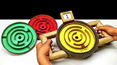 DIY Marble Labyrinth Game With Switching Levels Games For Kids, Diy For Kids, Activities For Kids, Crafts For Kids, Cardboard Crafts, Paper Crafts, Diy Marble, Labyrinth Game, Marble Games