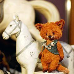 fox pup teddy ooak stuff art toy http://natalytoolsbears.blogspot.ru/