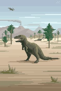 Pixel art, chiptunes, retro and science fiction things, game dev and related stuff. Pixel Art Gif, Pixel Art Games, Piskel Art, Pixel Art Background, Minecraft Banner Designs, 8 Bit Art, Pixel Animation, T Rex, Aesthetic Art