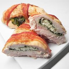 Bacon Wrapped Turkey Breast Stuffed with Spinach and Feta - Allrecipes.com