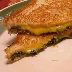 The traditional grilled Cheddar-cheese sandwich is elevated with an assortment of herbs.