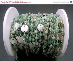 30 off SALE Chrysoprase Wire Wrapped Beaded by jewelersparadise, $10.46