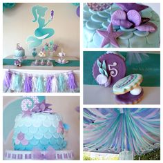 Mermaid themed birthday party via Kara's Party Ideas!