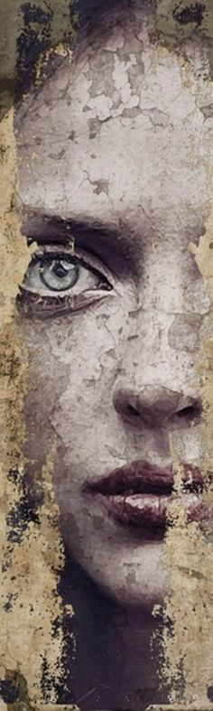 """""""Timeskin"""" by Antinio Mora. *Antonio Mora is a Spanish artist who combines with talent portraits photographed in various landscapes."""
