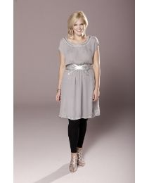 this soft gray tunic dress is so simple, yet so chic. can be easily dressed up or down. available in plus size.