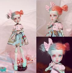 Custom Monster High Dolls, Monster High Repaint, Custom Dolls, Ooak Dolls, Blythe Dolls, Barbie Dolls, Pretty Dolls, Beautiful Dolls, Doll Painting