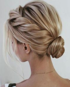 13 Ways to Hold Elegant Weddings 13 Ways to Hold Elegant Weddings Elegant wedding ideas to wow your guests---updo hairstyls with low bun chignon and side braid<br> Short Hairstyles For Thick Hair, Chic Hairstyles, Bohemian Hairstyles, Braided Hairstyles, Braided Updo, Bohemian Braids, Side Bun Updo, Chignon Hairstyle, Ponytail Haircut
