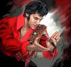"( 2015 IN MEMORY OF † ♪♫♪♪ ELVIS AARON PRESLEY ""Elvis art by Sara Lynn Sanders."" † ♪♫♪♪ Elvis Aaron Presley - Tuesday, January 08, 1935 - 5' 11¾"" - Tupelo, Mississippi, U.S. Died; Tuesday, August 16, 1977 (aged of 42) Memphis, Tennessee, U.S. Resting place Graceland, Memphis, Tennessee, U.S. Education. L.C. Humes High School Occupation Singer, actor Home town Memphis, Tennessee, USA. Cause of death; (cardiac arrhythmia)."