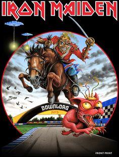 Tour 2013: Camiseta oficial do Download Festival ~ IRON MAIDEN 666 - BRASIL