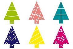 Scherenschnitt Tannenbäume PDF - Zum Herunterladen: Vorlagen für Scherenschnitt-Tannenbäume mit 24 verschiedenen Mustern zum Ausschneiden und Aufkleben. Die kleinen Tannenbaum-Vorlagen eignen sich prima zur Gestaltung von Weihnachtskarten (DIN A6). Die großen Tannenbäume passen jeweils auf ein DIN A5 Blatt.