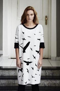Birds Double-sided dress