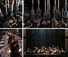 Una boda terroríficamente romántica - La novia indie Indie, Christmas Tree, Table Decorations, Holiday Decor, Home Decor, Colorful Smoke, 秋のウェディング 装飾, Elegant Wedding, Chandeliers