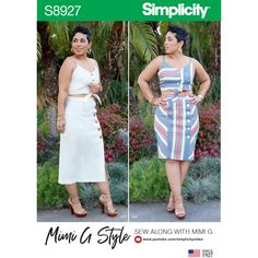 Simplicity Pattern 8221 Miss//Women MIMI G STYLE Dress 2 Lengths w//Tie Belt