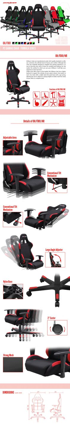 OH/FD01/NR - Formula Series - Gaming Chairs | DXRacer Official Website - Best Gaming Chair and Desk in the World