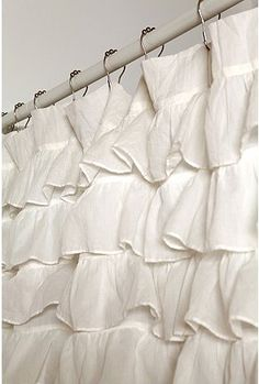 Ruffle Shower Curtain From Urban Outfitters, $79 Alice Bath?