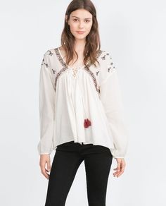 Image 2 of EMBROIDERED TOP from Zara