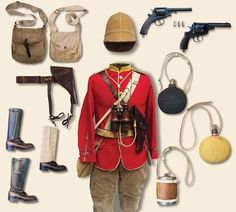 British Zulu War Camaign Kit, late 19th century: