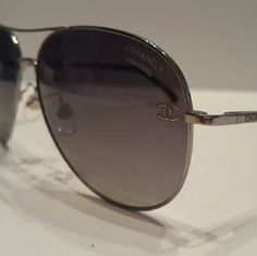 Chanel Polarized Aviator Sunglasses Authentic,  store display  Excellent condition  Chanel Polarized Sunglasses  Includes original case only Chanel  Accessories Glasses