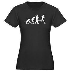 Runner Evolution Women's Fitted T-Shirt (dark)