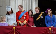Catherine, the Duchess of Cambridge, aka Kate Middleton and Prince William, The Duke of Cambridge,Princess Eugenie, Prince Harry, Princess Beatrice 2012 Trooping the Colour ceremony on the Balcony at Buckingham Palace