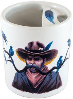 Cowboy - Mustache Guard Mug by Bucardo