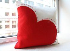 Cuscino cuore rosso grande Decor di San di HoneyPieDesign su Etsy