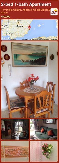 2-bed 1-bath Apartment in Torrevieja Centro, Alicante (Costa Blanca), Spain ►€69,900 #PropertyForSaleInSpain