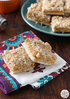 Pumpkin Snickerdoodle Cheesecake Bars Recipe from @akitchenaddict: