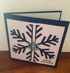 Stampin' Up with Tori&TeAo Simply Snowflake  Paper Pumpkin Handmade Card