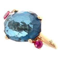 Pomeletto Bahia Topaz Sapphire Gold Ring 1 I love this ring! blue sky, blue water