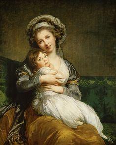 Marie Elisabeth-Louise Vigée-Lebrun - Bildnis der Künstlerin mit ihrer Tochter