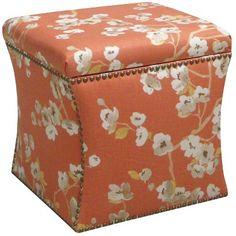 Skyline Custom Upholstered Nail Button Storage Ottoman