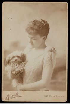 edith wharton and dog, c. 1889