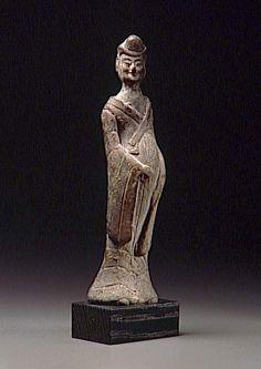 femme enceinte Paris 5e siècle, dynastie Wei (534-557)  terre cuite Chine   0.175 m.Longueur : 0.200 m. Paris, musée Guimet - musée national des Arts asiatiques