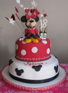 Minnie Mouse 18th Birthday Cake