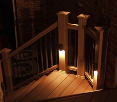outside deck lighting. other simpletoinstall options that work especially well for decks include banister cap lights rope and downlights built into the posts outside deck lighting n