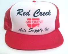 Vintage Red Creek Carquest Auto Supply, Inc Red Trucker Hat Mesh Snapback #Trucker Check out all of these ebay names for more amazing deals: http://www.ebay.com/usr/lostandfoundtreasuresbymedusa http://www.ebay.com/usr/medusamaire http://www.ebay.com/usr/maire1968