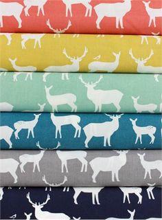 Jay-Cyn Designs for Birch Fabrics, Mod Basics 2, Elk Fam in FAT QUARTERS 6 Total