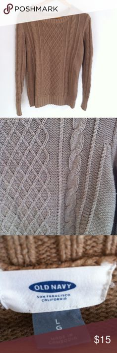 Cable Knit Toffee Old Navy Sweater Size Large Cable Knit Toffee Old Navy Sweater Size Large Old Navy Sweaters Crew & Scoop Necks