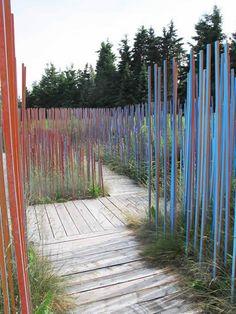 Le jardins de bâtons bleus | Claude Cormier